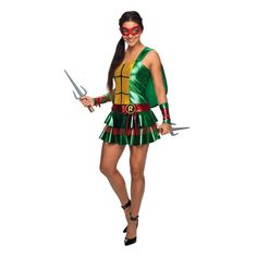 Raphael Teenage Mutant Ninja Turtles Dress Womens Costume