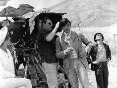 Luchino Visconti and Alain Delon on the set of Il Gattopardo.