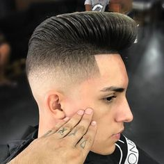 Pompadour Fade Haircut Best Haircuts For Men: Cool Mens Hairstyles Cool Mens Haircuts, Cool Hairstyles For Men, Men's Haircuts, Drop Fade, Swept Back Hair, Slicked Back Hair, Haircut Fails, Haircut Men, Pompadour Fade Haircut
