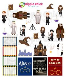 Add some magic to your favorite planner, calendar or scrapbook with this Harry Potter inspired School of Wizardry Mini Kit. Mini Kits include