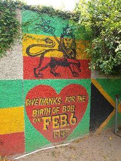 *Bob Marley* Bob Marley Museum, Kingston, Jamaica. More fantastic streetart, pictures and videos of *Bob Marley* on: https://de.pinterest.com/ReggaeHeart/