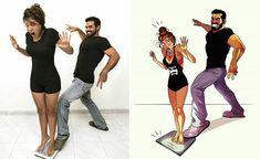 Love Cartoon Couple, Cute Couple Comics, Couples Comics, Cute Love Cartoons, Funny Couples, Cute Comics, Funny Comics, Black Couple Art, Cute Couple Art