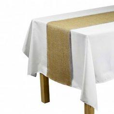 "By Florida Tablecloth Burlap Runner 16x90"" (Natural)"
