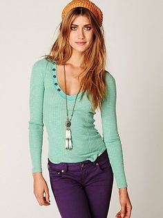 Free People Grand Master Long Sleeve Boy Top at Free People Clothing Boutique - StyleSays