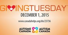 Today is #GivingTuesday. Support #AutismCanada's national initiatives for individuals & #families touched by #autism: http://ift.tt/1LLxJ4m