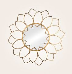 Make any room look and feel instantly glamorous with the Lauren Wall Mirror from Stratton Home decor. All handcrafted of metal and glass. This circular mirror features a wonderful floral motif and a stunning gold foil finish that adds sensational sty Wall Mirror With Shelf, Black Wall Mirror, Mirror House, Round Wall Mirror, Mirror Room, Mirror Bathroom, Mirror Ideas, Mirror Mirror, Oversized Wall Mirrors