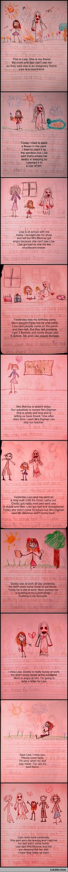 Creepiest. Diary. EVER...I want to cry now cuz it's also sad...  RILEY