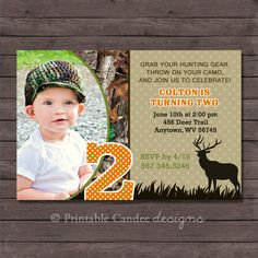 Hunting Birthday Invitation  DIY Custom by printablecandee on Etsy, $10.00