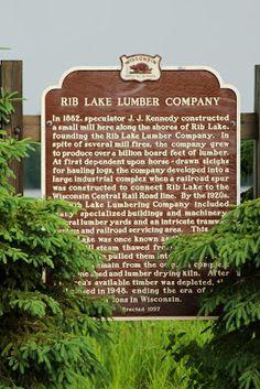 Wisconsin Historical Markers: Marker 346: Rib Lake Lumber Company
