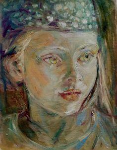 Marianne van der Veer, polka dot scarve on ArtStack #marianne-van-der-veer #art