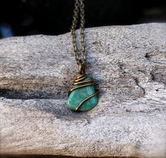 Amazonite Necklace  Wiccan Healing Stone by MermaidTearsDesigns