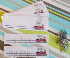 Paper clip addition cards Preschool paper clips additions Paper clips addition activities with train Paper clips activities Addition activity with train Brother numbers activities with paperclips Montessori Classroom, Montessori Activities, Classroom Activities, Math Addition, Addition And Subtraction, Maria Montessori, Kindergarten Math, Preschool, Star Wars Classroom