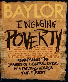 Poverty isn't going away anytime soon, but if what's happening at #Baylor University is any indication of what's possible, it may be sooner than you think. (click to read story)