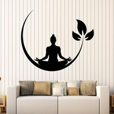 Toonol 28 x 34 CM Yoga Meditation Room Vinyl Wall Stickers Buddhist Zen Wall Decal Design Removable Wall Sticker Decor Yoga Room Wallpaper -- Learn more by visiting the image link. (This is an affiliate link and I receive a commission for the sales) Meditation Raumdekor, Meditation Room Decor, Meditation Tattoo, Removable Wall Stickers, Vinyl Wall Stickers, Room Stickers, Window Stickers, Decoration Stickers, Wall Painting Decor