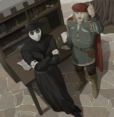 two favorite people in the game besides ezio i mean those doctors look awesome <-- both have the same voice actor to :P