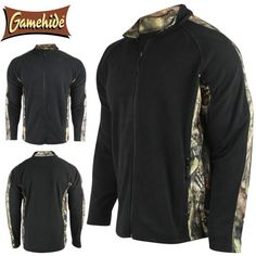 Gamehide Outfitter Fleece Jacket (XL)- MOC/Blk Hunting Jackets, Oversized Tee, Sweatshirt, T Shirt, Cool Things To Buy, Tees, Black Friday, Laughing, Saving Money