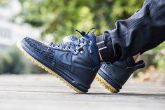 Nike Sportswear Fits the Lunar Force 1 Duckboot in Dark Obsidian on Gum - EU Kicks: Sneaker Magazine