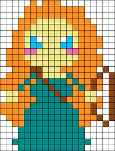 Merida Perler Bead Pattern / Bead Sprite