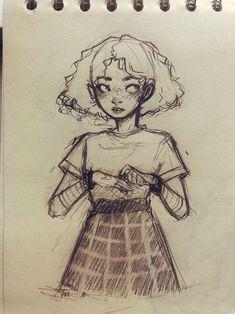 cartoon art Me gusta, 62 comentarios - - art Girl Drawing Sketches, Cool Art Drawings, Pencil Art Drawings, Cartoon Drawings, Drawing Art, Sketch Art, Cartoon Illustrations, Drawing Ideas, Drawing Girls