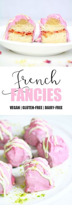 Vegan Gluten-free French Fancies First of all I would like to wish my mum and all the amazing mothers out there a 💕HAPPY MOTHER& DAY💕 If you live in the UK you will be very familiar… Gluten Free Treats, Vegan Treats, Gluten Free Baking, Vegan Foods, Vegan Snacks, Gluten Free Desserts, Dairy Free Recipes, Vegan Gluten Free, Patisserie Sans Gluten