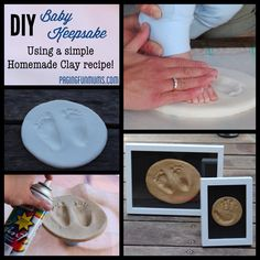 DIY Baby Keepsake - using Homemade Clay! :http://pagingfunmums.com/2013/08/29/diy-baby-keepsake-using-homemade-clay/