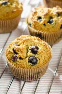 This blueberry paleo muffins recipe is gluten free and made with fresh blueberries, almonds, honey and lemon.