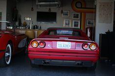 Ferrari 308 inside of the amazing Garage 77 in Los Angeles Ferrari, Garage, Cars, Amazing, Carport Garage, Autos, Garages, Car, Automobile