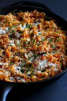 Vegetarian Spaghetti Squash Skillet   Community Post: 11 Irresistible Reasons To Go Meatless In January