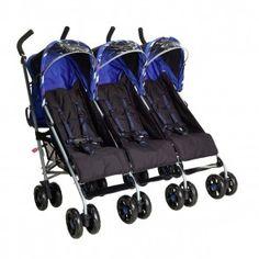 Citi Elite Triple Pushchair Fizzy Blue 0700112380624