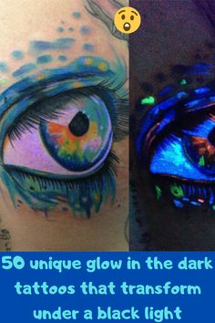 There are a lot of reasons why one might choose to get a tattoo done in ultraviolet ink. Maybe there is a hidden image or message that you only want to be visible when you are out partying at the night club. Other times, the glowing ink adds a whole new layer to an otherwise simple tattoo. The main reason to get one of these ultraviolet tattoos though is that they are just plain cool. Stylish Dresses For Girls, Stylish Dress Designs, Tommy Shoes, Hyper Realistic Tattoo, Biomechanical Tattoo, Skin Shine, Lettering Tattoo, Hair Puff, Everyday Makeup Tutorials