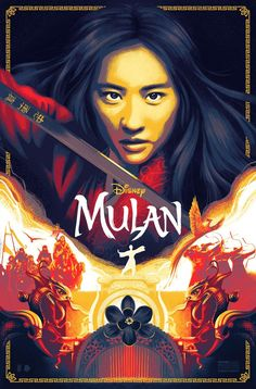 Mulan Posters Disney Fan Art Film Print Quality High 24x36 Full Size White Color