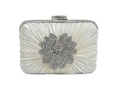 CREAM HARD-BACK BOX CLUTCH BAG WITH DIAMANTE DESIGN, £11.99