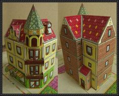 Budapest Corner House Free Building Paper Model Download