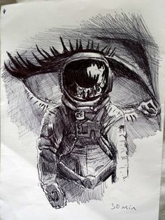 tumblr sketches drawing | Astronaut Drawing Tumblr (page 3) - Pics about space