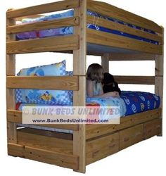Bunk Bed Plan Stackable Twin Over Twin With Storage Drawers Or Trundle