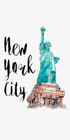 Nueva York Illustration, Acuarela, Estatua De La Libertad, Nuevo Imagen PNG