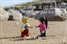 Fab lego wedding save the date card for your LEGO wedding