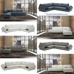 Stunning new leather sectionals - with storage! Available with left or right chaise and in 4 easy to match colors. Ergonomic Office Chair, Sectional Furniture, Sofa, Mid Century Furniture, Great Rooms, Modern Furniture, Leather Sectionals, Family Room, Contemporary
