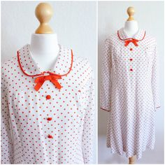 Vintage Candy Cane Polka Dot 50's Peter Pan Dress by LAPraxis on Etsy