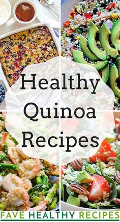 We've collected some of our favorite healthy quinoa recipes for you to try. Cooking with quinoa is a lot easier than you think!
