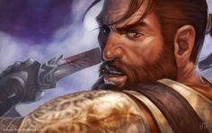This picture of Duncan really captures his intensity as a Grey Warden. ~Dragon Age RPG: Grey Warden Duncan by david-kegg on deviantART Dragon Age Hawke, Dragon Age Rpg, Dragon Age Series, Dragon Age Games, Dragon Age Origins, Grey Warden, Forgotten Realms, Art Inspiration Drawing, Art Journal Inspiration