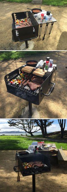 Convenient Clip On Utility Shelf For Public Park BBQ Grills Contest
