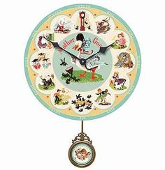 Mother Goose Clock, I LOVE this!!! Have to find it!