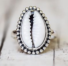 Cowrie Shell Ring Available in our 'Mermaid' Collection www.indieandharper.com