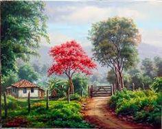 Αποτέλεσμα εικόνας για pintura flores vermelhas