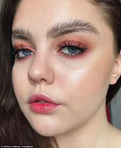Up and down looks: Social media users are going wild for a pair of new eyebrow trends, inc...