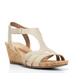 Aerosoles Women's Pancake Wedge Sandals (Lt Tan)