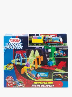 Thomas /& Friends TrackMaster Hyper Glow Track Bucket Tank Engine Train Playset