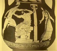Image result for theatre mask italian vase Deathly Hallows Tattoo, Theatre, Triangle, Greek, Romani, Paintings, Vase, Dancers, Plays