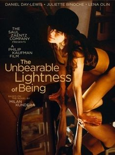 The Unbearable Lightness of Being. A great love story, with Daniel Day Lewis, Juliette Binoche, and Lena Olin. Love this film! Lena Olin, Juliette Binoche, Cameron Diaz, Derek De Lint, Cinema Paradisio, Milan Kundera, Last Tango In Paris, Daniel Day, Chicago